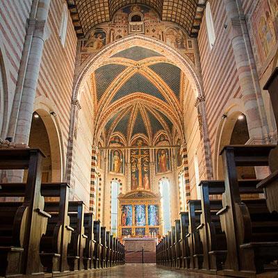 Der Innenraum der Basilica di San Zeno, Verona