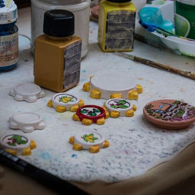 Feine Handarbeiten, Ragusa Ibla, Sizilien