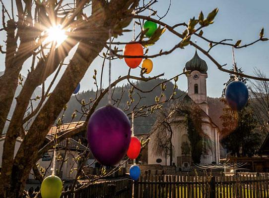 Ostern in Farchant, das liebe Dorf, bei Garmisch-Partenkirchen