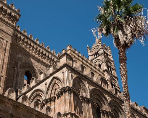Detail der Kathedrale von Palermo, Sizilien