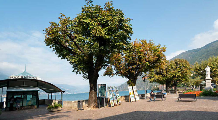 Bellano am Ostufer des Comer Sees, über mehrere Jahrhunderte der größte Hafen am Comer See, Comer See Region, Lombardei, Italien