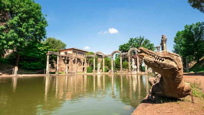 Das Wasserbassin der Villa Adriana