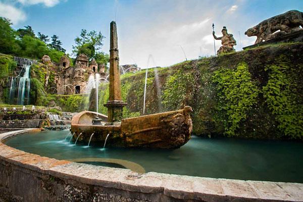 Klein-Italien als Brunnen in der Villa d'Este nachgebildet