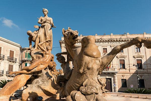Fontana di Diana auf Ortigia, Syrakus, Sizilien