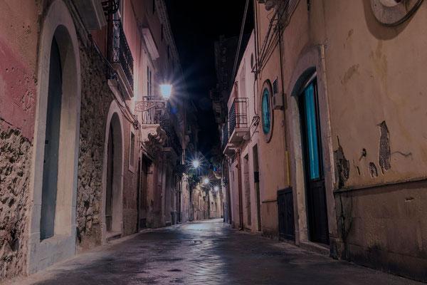 Nachts in Ortigia, Syrakus, Sizilien
