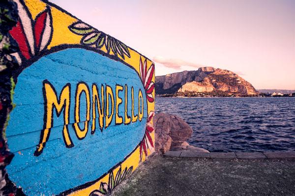 Mondello, ein schöner kleiner Vorort von Palermo, Sizilien