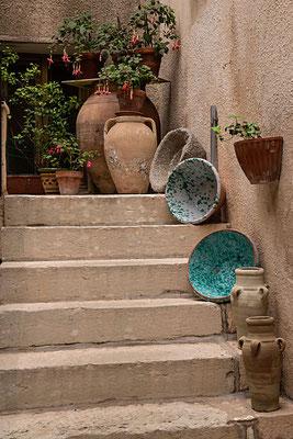 Liebevolles Detail in den Straßen von Erice bei Trapani, Sizilien