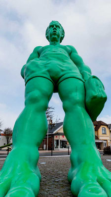 Rieisig, grün und schräg - einer aus dem Westerländer Begrüßungskomitee, Sylt