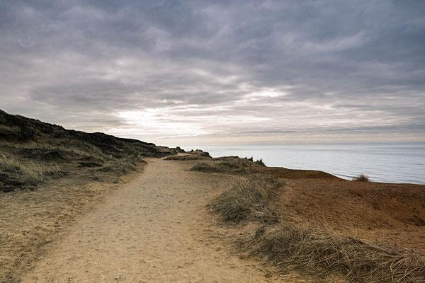 Wo hin der Weg mich führt - oberhalb des Roten Kliffs, Sylt