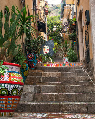Keramikkunst in Taormina, Sizilien