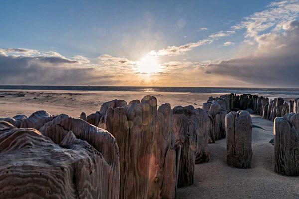 Abendstimmung am Strand von Westernland, Sylt
