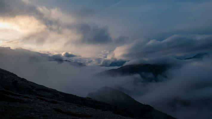 Wolkenstimmung über den Dolomiten