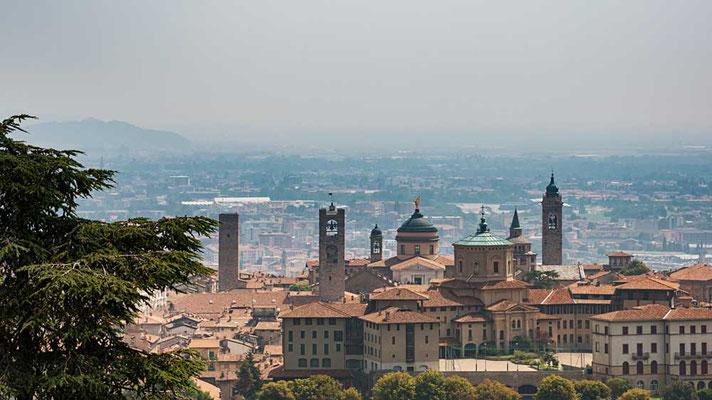 Altstadt von Bergamo, Cittá Alta, Lombardei, Italien