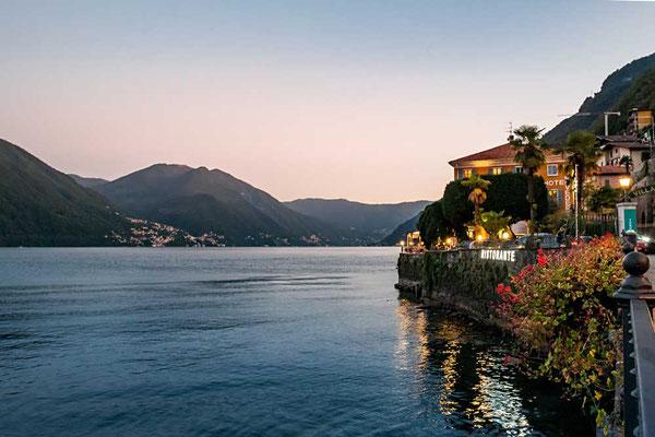 Argegno am Ausgang des Val d`Intelvi am Westufer des Comer Sees, Comer See Region, Lombardei, Italien
