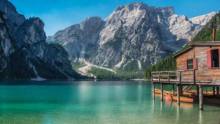 Pragser Wildsee, Hochpustertal, Südtirol, Italien