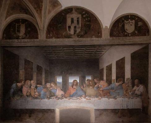 """Weltbekannt: """"Das letzte Abendmahl"""" von Leonardo Da Vinci in der Kirche Santa Maria delle Grazie, Mailand, Lombardei, Italien"""