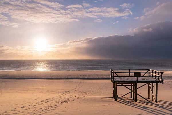 Ruhe genießen am Strand von Westerland, Sylt