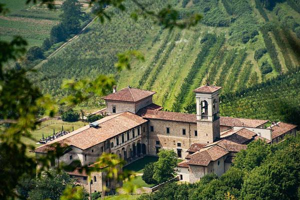 Blick vom Castello San Vigilio, Bergamo, Lombardei, Italien