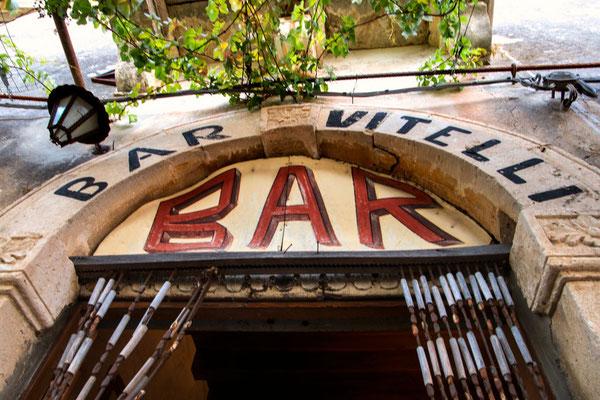 Die Bar Vitelli in Savoca, Sizilien