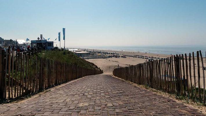 Der Strand von Zandvoort, NL