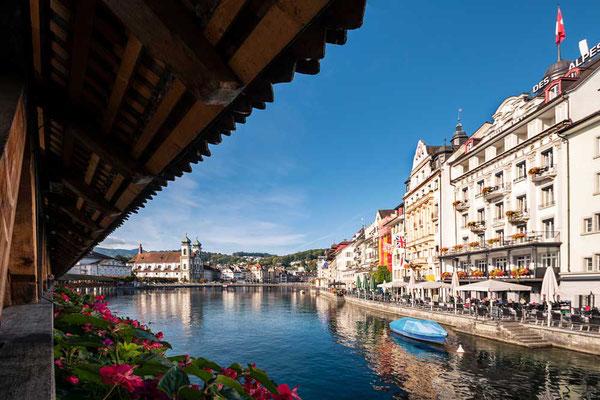 Blick von der Kapellbrücke, Luzern, CH