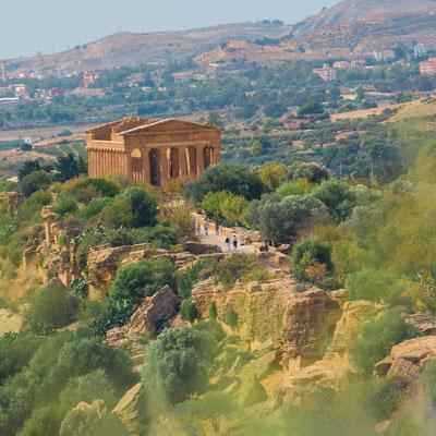 Im Tal der Tempel von Agrigent, ein unvergleichliches Zeugnis der Magna Graecia an der Südküste Siziliens