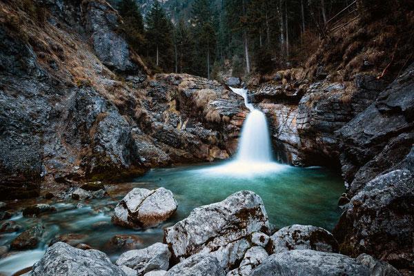 An den Kuhfluchtwasserfällen, Farchant, Zugspitzregion