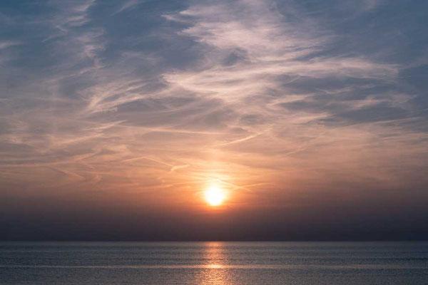 Sonnenuntergang am Strand von Zandvoort, NL
