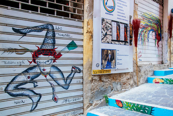 Das Künstlerviertel von Agrigento, Sizilien