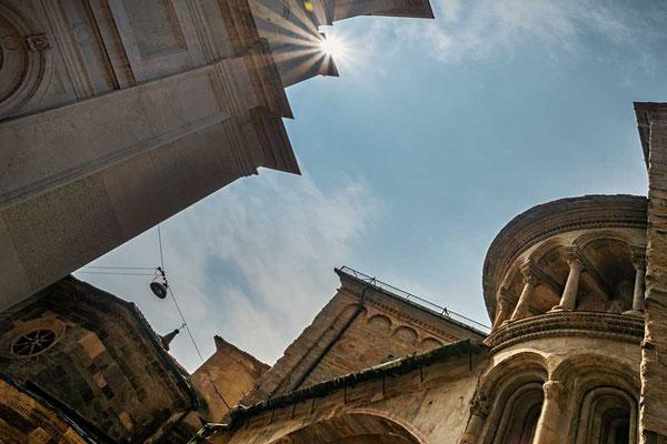 Kirchliches Ensemble um die Piazza Vecchia, Cittá Alta, Bergamo, Lombardei, Italien