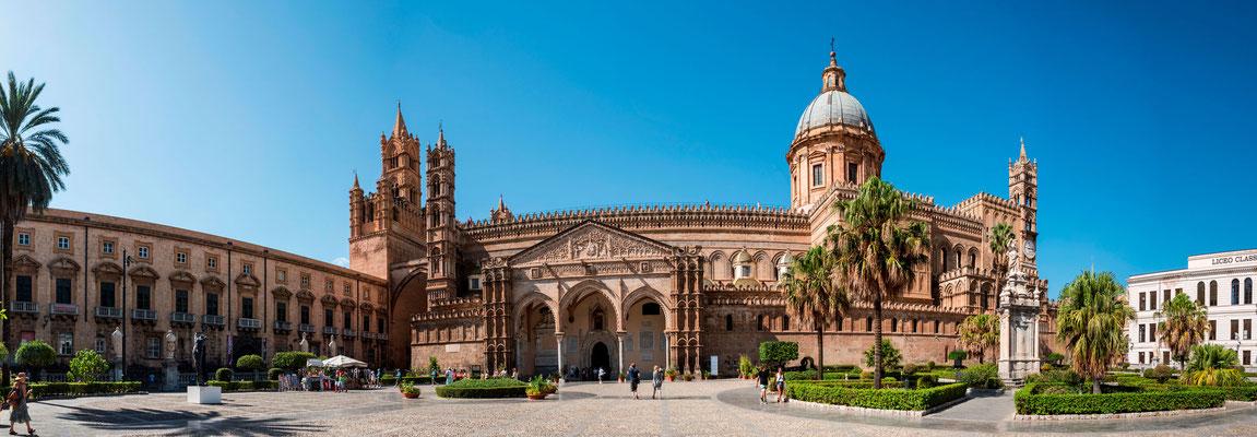 Panorama-Ansicht der Kathedrale von Palermo, Sizilien