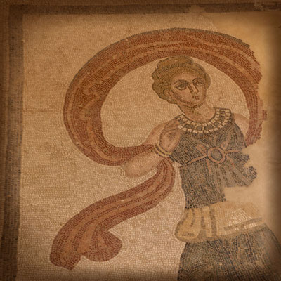 Bodenmosaik, Villa Casale del Romano, Region Enna, Sizilien