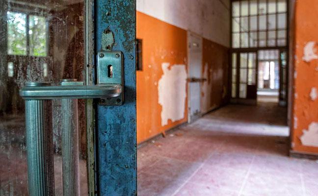 In den Gängen des Schul- und Wohntrakts - Kent School, Waldniel-Hostert