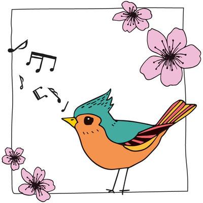 Singender Vogel (Größe 110/116)