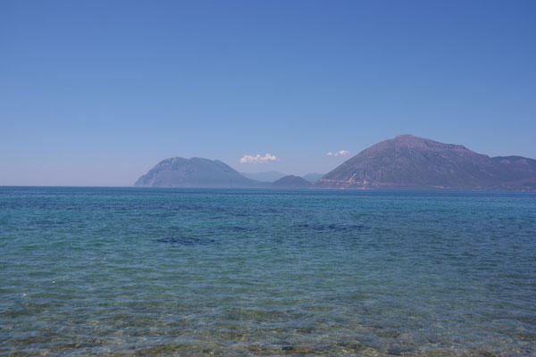 Blick von Patras auf das Festland
