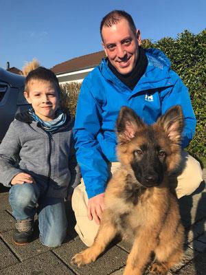 12,5 Wochen alt mit den neuen Besitzern