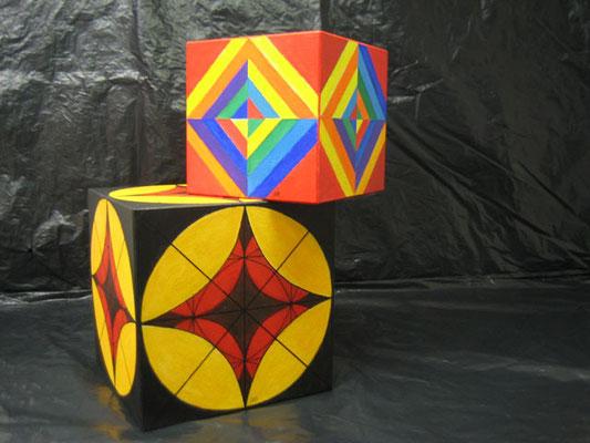Würfel Holz MDF Platte 20x20x20cm / 15x15x15cm