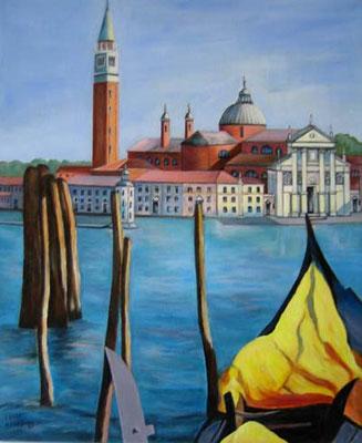"""Venedig - Blick auf """"San Giorgio"""" 50x60cm Acryl auf Maltuch"""