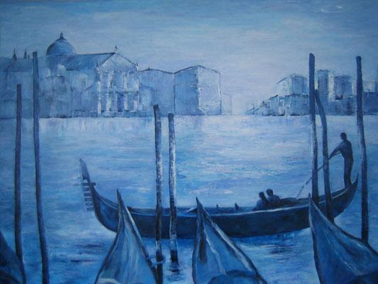 Venedig im Morgenlicht 80x100cm Acryl auf Maltuch