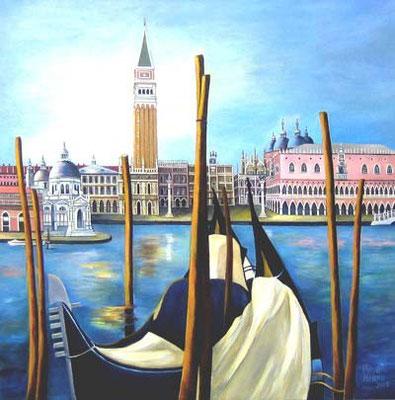 """""""Venedig"""" Blick auf San Marco 70x70cm Acryl auf Maltuch"""