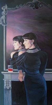 """""""Spiegelbild"""" 50x100cm Acryl auf Maltuch"""