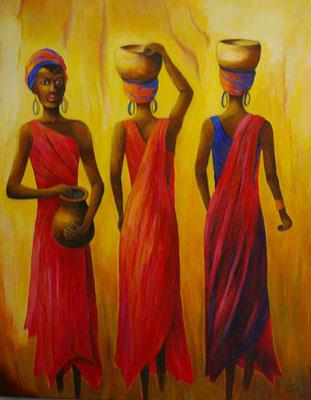 African-Woman 80x100cm Acryl auf Maltuch