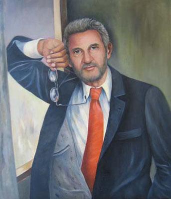 Porträt - Theodor 60x70cm Öl auf Maltuch