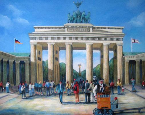 Brandenburger Tor 90x70cm Acryl auf Maltuch