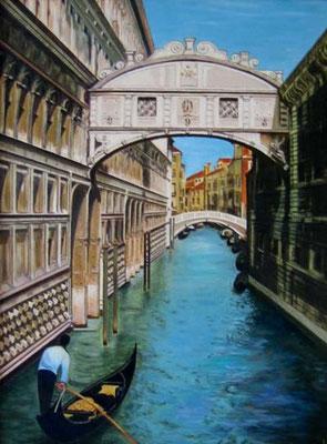 Venedig Seufzerbrücke 30x40cm Acryl auf Maltuch