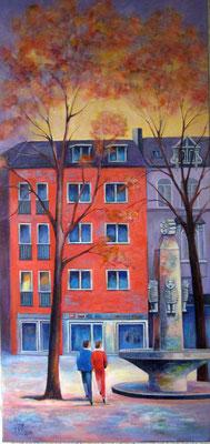 """""""Das Rote Haus"""" Acryl auf Maltuch 50x110cm"""