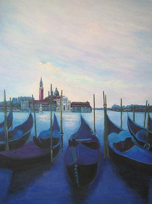 Venedig S. Giorgio Maggiore 65x90cm Acryl auf Maltuch