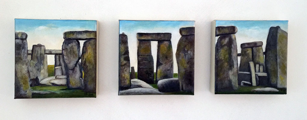 Stonehenge je 20x20cm Acryl auf Maltuch