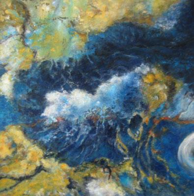 Wasserwelt 60x60cm I Acryl auf Maltuch