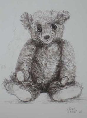 "Teddy ""Max"" 30x40cm Sepiakreide"